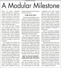 Consumer Feature Article - Modular Home